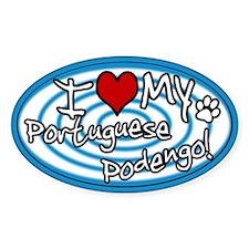 Hypno I Love My Portuguese Podengo Sticker Blue