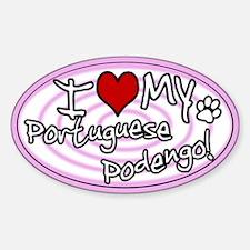 Hypno I Love My Portuguese Podengo Sticker Pink
