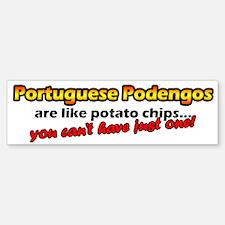Potato Chips Portuguese Podengo Bumper Bumper Bumper Sticker