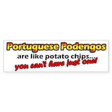 Potato Chips Portuguese Podengo Bumper Bumper Sticker