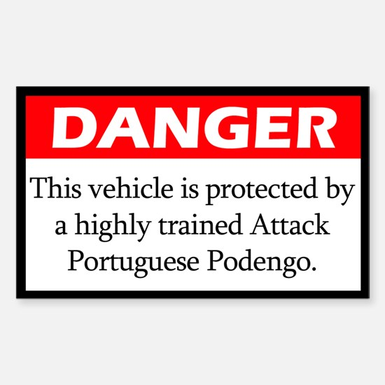 Danger Portuguese Podengo Decal