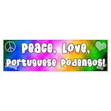 Hippie Portuguese Podengo Bumper Bumper Sticker