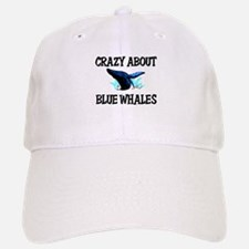 Crazy About Blue Whales Baseball Baseball Cap