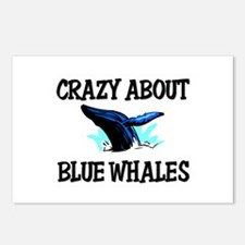 Crazy About Blue Whales Postcards (Package of 8)