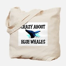 Crazy About Blue Whales Tote Bag
