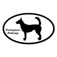 Portuguese Podengo Silhouette Sticker (Wire Hair)