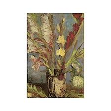 Van Gogh Vase with Gladioli Rectangle Magnet (100