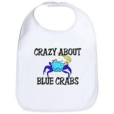 Crazy About Blue Crabs Bib