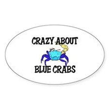Crazy About Blue Crabs Oval Decal