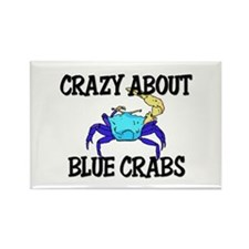 Crazy About Blue Crabs Rectangle Magnet