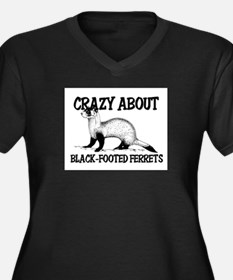 Crazy About Black-Footed Ferrets Women's Plus Size