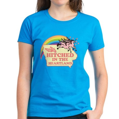 Hitched In The HeartLand-Unic Women's Dark T-Shirt