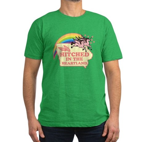 Hitched In The HeartLand-Unic Men's Fitted T-Shirt