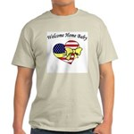 Military Welcome Home Baby Ash Grey T-Shirt
