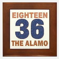 """""""Alamo Flag"""" Framed Tile"""