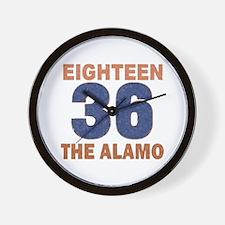 """Alamo Flag"" Wall Clock"
