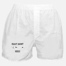 Crazy About Birds Boxer Shorts