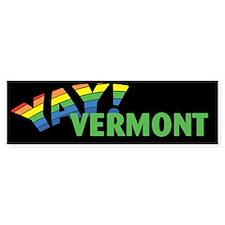 YAY! VERMONT Bumper Bumper Sticker