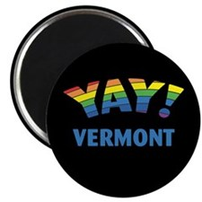 """YAY! VERMONT 2.25"""" Magnet (10 pack)"""