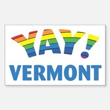 YAY! VERMONT Rectangle Decal