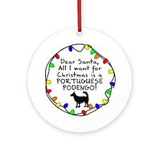 Dear Santa W Portuguese Podengo Christmas Ornament
