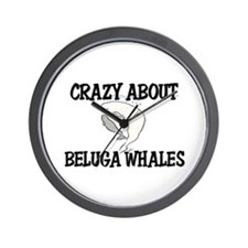 Crazy About Beluga Whales Wall Clock