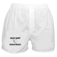 Crazy About Beluga Whales Boxer Shorts