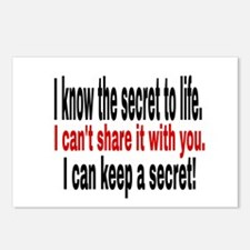 I know the secret to life Postcards (Package of 8)