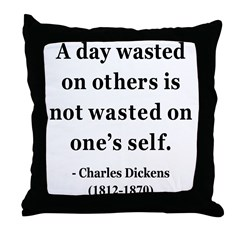 Charles Dickens 20 Throw Pillow