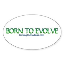 Born to Evolve Oval Decal
