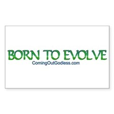 Born to Evolve Rectangle Decal