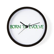 Born to Evolve Wall Clock