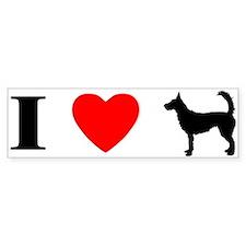 I Heart Wire Podengo Bumper Bumper Sticker