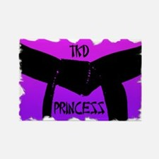 Martial Arts TKD Princess Rectangle Magnet