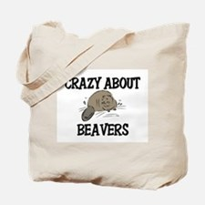 Crazy About Beavers Tote Bag