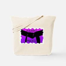 Martial Arts Black Belt Princess Tote Bag