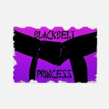 Martial Arts Black Belt Princess Rectangle Magnet