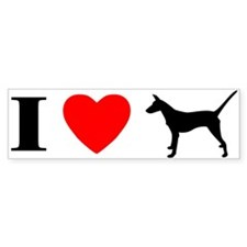 I Heart Smooth Podengo Bumper Bumper Sticker