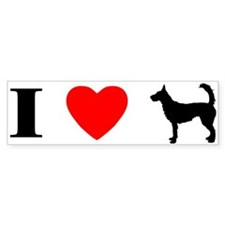 I Heart Wire Podengo Bumper Bumper Sticker