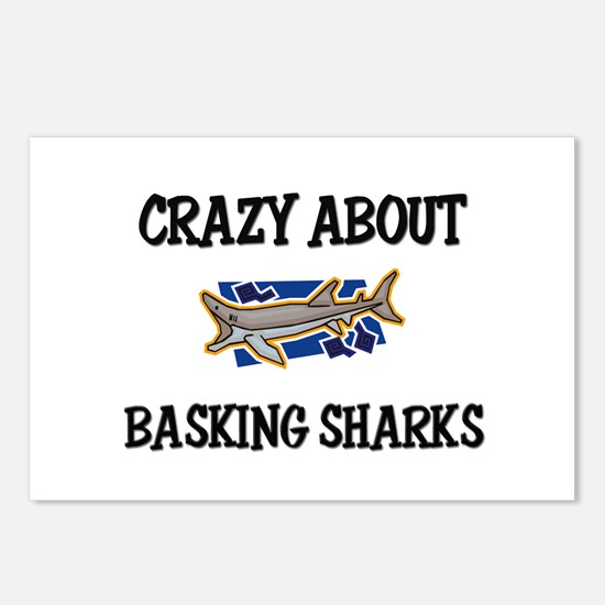 Crazy About Basking Sharks Postcards (Package of 8