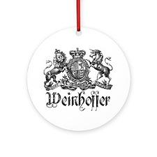 Weinhoffer Vintage Family Crest Ornament (Round)