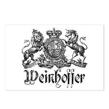 Weinhoffer Vintage Family Crest Postcards (Package