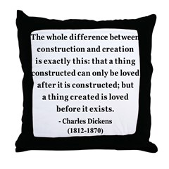 Charles Dickens 21 Throw Pillow