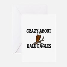 Crazy About Bald Eagles Greeting Cards (Pk of 10)
