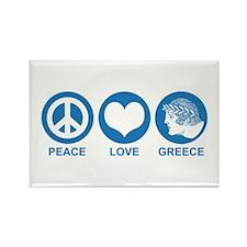 Peace Love Greece Rectangle Magnet