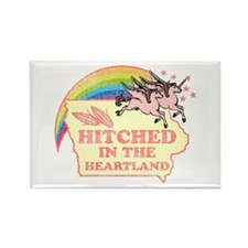 Hitched In The HeartLand-Unic Rectangle Magnet