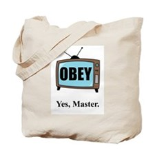 OBEY YOUR TV Tote Bag