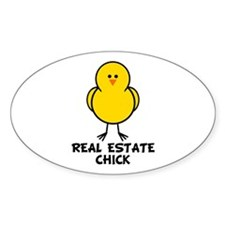 Real Estate Chick Oval Decal