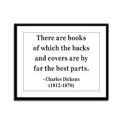 Charles Dickens 22 Framed Panel Print
