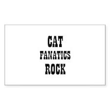 CAT FANATICS ROCK Rectangle Decal